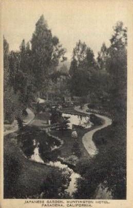 Japanese Garden, Huntington Hotel - Pasadena, California CA Postcard