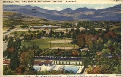Brookside Park - Pasadena, California CA Postcard