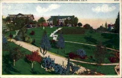 The Busch Sunken Gardens - Pasadena, California CA Postcard