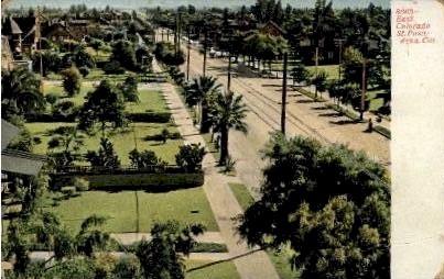 East Colorado Street - Pasadena, California CA Postcard