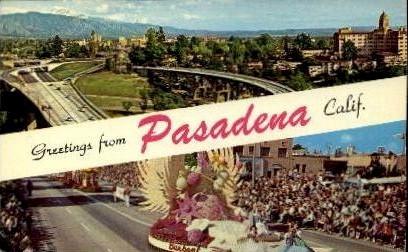 Greetings from Pasadena - California CA Postcard