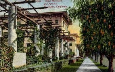 Hotel Maryland and Pergola - Pasadena, California CA Postcard