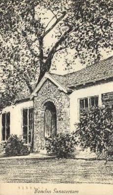 Bondies Sanatorium - Pasadena, California CA Postcard