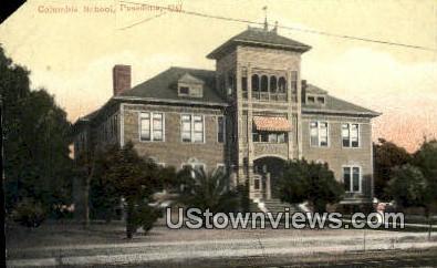 Columbia School - Pasadena, California CA Postcard