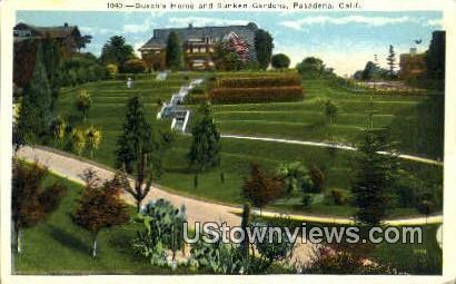 Busch's Home, Sunken Gardens - Pasadena, California CA Postcard