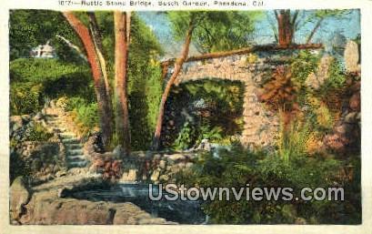 Busch Gardens - Pasadena, California CA Postcard