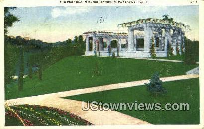 Pergola, Busch Gardens - Pasadena, California CA Postcard