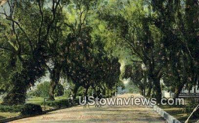 Marengo Ave. - Pasadena, California CA Postcard