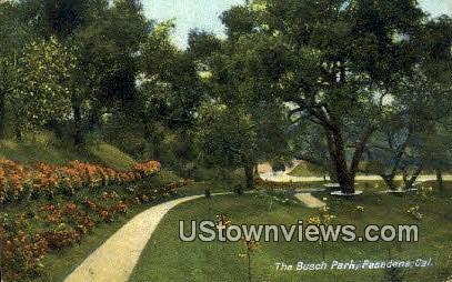 Busch Park - Pasadena, California CA Postcard