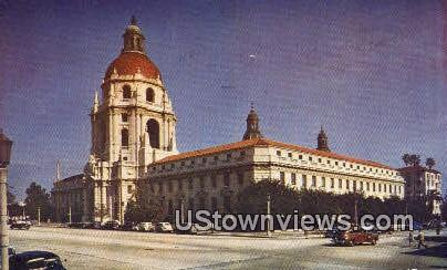 Pasadena City Hall - California CA Postcard