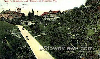 Busch's Residence - Pasadena, California CA Postcard
