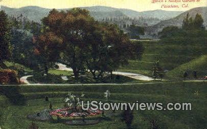 Busch's Sunken Gardens - Pasadena, California CA Postcard