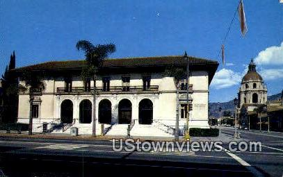 Post Office, City Hall - Pasadena, California CA Postcard