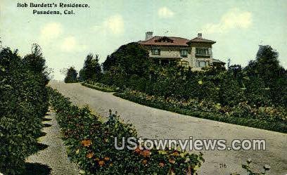 Bob Budett's Residence - Pasadena, California CA Postcard
