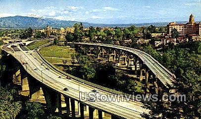 Arroyo Seco - Pasadena, California CA Postcard