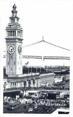 Ferry Building - San Francisco, California CA Postcard