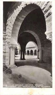 A Corner of the Arcade, Stanford University - California CA Postcard