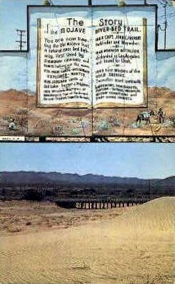 The Mojave River Bed - MIsc, California CA Postcard