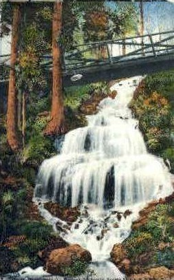 Waterfall - MIsc, California CA Postcard