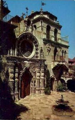 Portal of St. Francis Chapel Mission Inn - Riverside, California CA Postcard