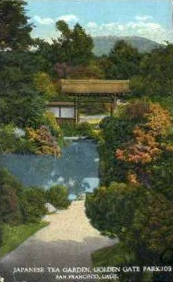 Japanese Tea Garden, Golden Gate Park - San Francisco, California CA Postcard