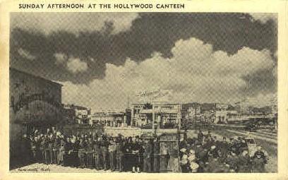 Sunday Afternoon at the Hollywood Canteen - California CA Postcard