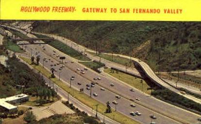 Hollywood Freeway - California CA Postcard
