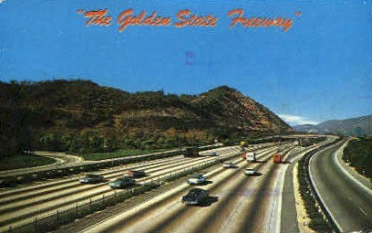 The Golden State Freway - Los Angeles, California CA Postcard