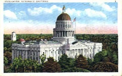State Captiol - Sacramento, California CA Postcard