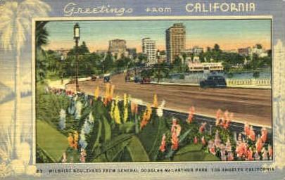 General Macarthur Park - Los Angeles, California CA Postcard
