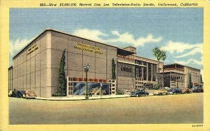 Mutual Don Lee Television-Radio Studio - Hollywood, California CA Postcard