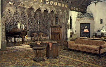 The Music Room of Scotty's Castle - Death Valley, California CA Postcard