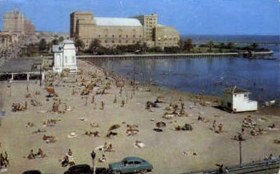 Lagoon and Municipal Auditorium  - Long Beach, California CA Postcard