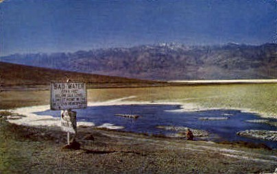 Death Vally National Monument - Death Valley, California CA Postcard