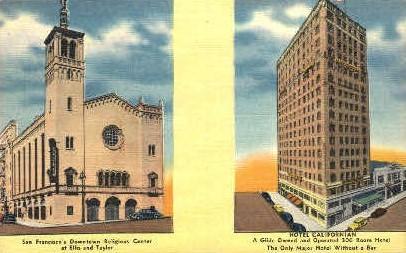 Hotel Californian - San Francisco Postcard