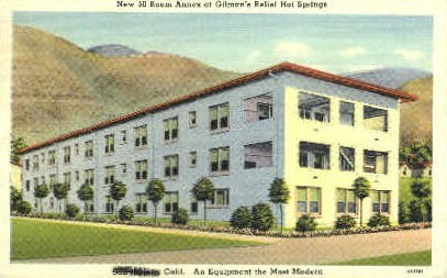 Gilman's Relief Hot Springs - MIsc, California CA Postcard