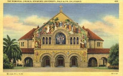 The Memorial Church, Stanford University - California CA Postcard
