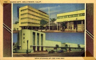 Radio City, New Studios of CBS and NBS - Hollywood, California CA Postcard