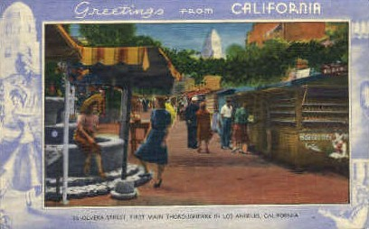 Greetings From - MIsc, California CA Postcard