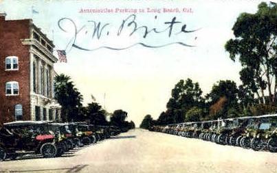Automobile Parking - Long Beach, California CA Postcard