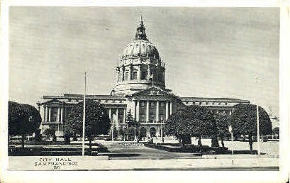 City Hall - San Francisco, California CA Postcard