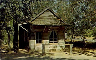 A Miners Cabin - MIsc, California CA Postcard