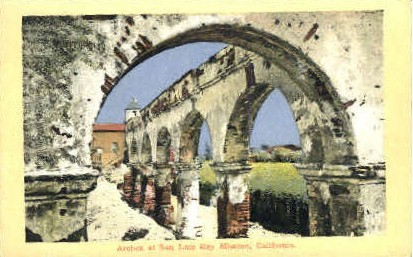 Arches at Rey Mission - MIsc, California CA Postcard