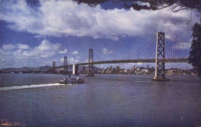 Bay Bridge and Skyline - San Francisco, California CA Postcard
