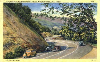 In the Mountains of California - MIsc Postcard