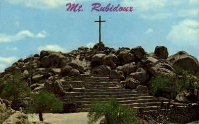 Summit of Mt. Rubidoux - Riverside, California CA Postcard