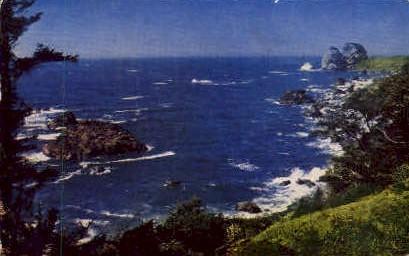 Shore of the Pacific - MIsc, California CA Postcard
