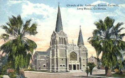 Church of St. Anthony - Long Beach, California CA Postcard