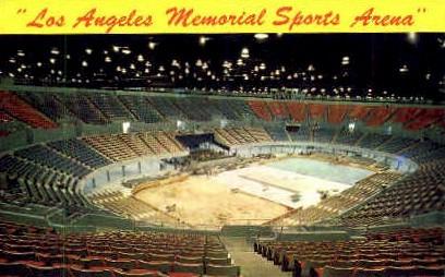 Memorial Sports Arena - Los Angeles, California CA Postcard