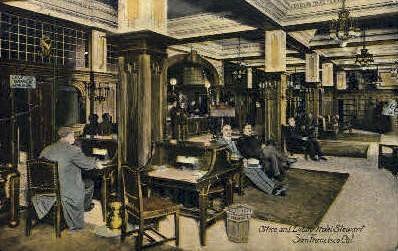 Office & Lobby, Hotel Stewart - San Francisco, California CA Postcard
